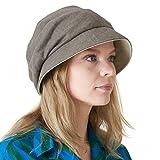 Casualbox Mujer Sol Sombrero Orgánico Algodón Reversible Japonés Diseño Marrón