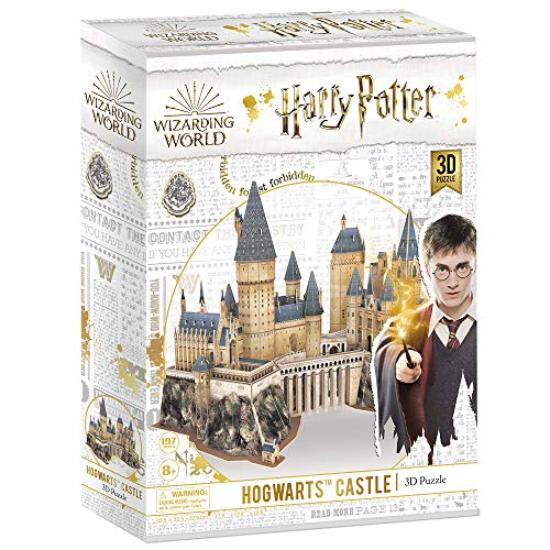 CubicFun 3D Puzzle Harry Potter Hogwarts Schloss Schule, Magic Model Making Kit, DIY BAU Spielzeug Geschenk für Erwachsene und Kinder, 197 Stück