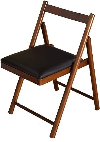 QRFDIAN Chaise de Salle à Manger en Bois Massif Chaise Confortable Moderne Chaise de Bureau à Domicile Chaise de Table Pliante Convient pour la Famille en Plein air (Couleur   B)