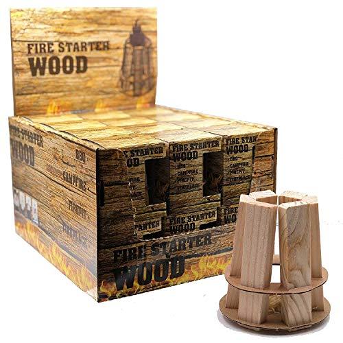 dropo.de BBQ en schoorsteen aansteker log piramide pack brand starter hout 24er Pack