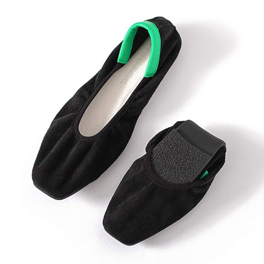 薬を飲む知覚的想定バレエシューズ ぺたんこ靴 レデース パンプス 歩きやすい シンプル コンフォート 折りたたみ 安定感抜群 滑り止め フラットシューズ 低反発 婦人用 日常 レッド ブラック