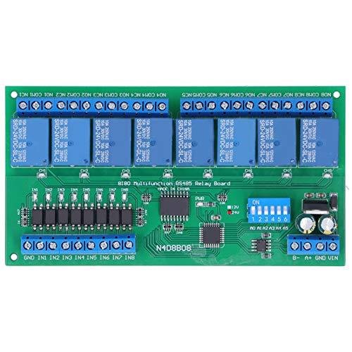 Relé RS485, N4D8B08 8 entradas 8 Salidas, protocolo Modbus RTU, Carcasa de Carril DIN35, Placa de expansión PLC 24v, módulo de relés de Placa de relés