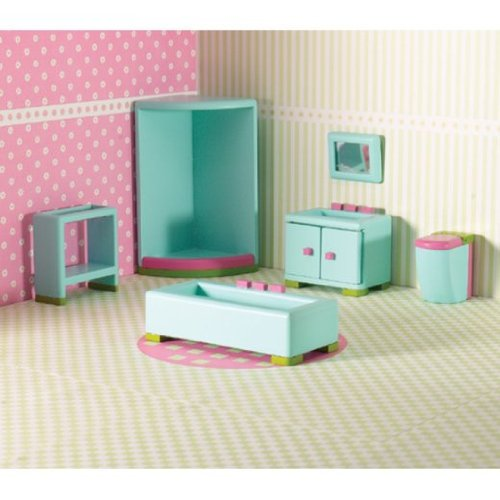 Dolls House 6494 Rainbow Bain Bathroom 1:12 pour Junior Bois Maison