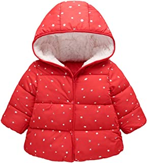 Arystk Winter Baby Girl Boy Coat Kids Children Hooded Long Sleeves Jacket Warm Outerwear Clothes