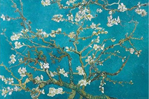 1art1 Vincent Van Gogh - Mandorlo in Fiore, Saint-Rémy 1890 Poster Stampa (91 x 61cm)