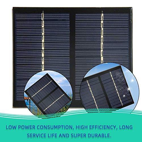12V 1.5W Universal Solar Panel Polykristallines Silizium DIY Batterielademodul Kleine Solarzelle - schwarz
