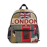 Mochilas Escolares Infantiles, Bolsa Estampada Personalizada Personalizada con Estampado De Londres para Niñas Y Niños