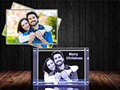 Our train crystal is the perfect gift to capture stunning memories, with beauty and classic elegance for years to come. Great gift for individuals, couples and families. Complementary 3D engraving 2 lines of text, up to 40 characters (Including space...