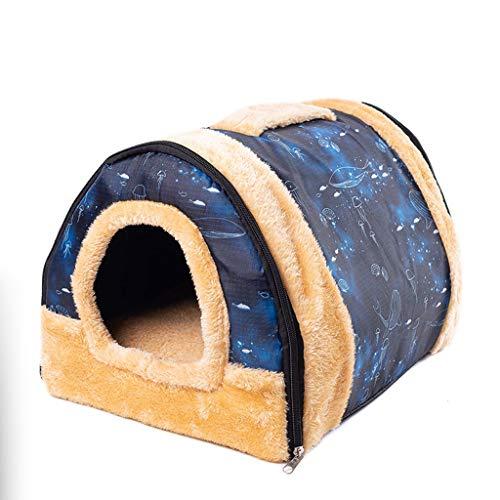 Yaya bed voor dieren, opvouwbaar, voor honden en katten, huisdierbed, voor katten, teddybommel, puppen, tent, kenel nest, kleine middelgrote honden, Chihuahua Yourtes huisdier, M, B