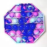 RichAmazon Push Bubble Fidget Juguetes Adultos Alivio del Estrés Juguete Antiestrés Suave Squishy Anti Estrés Regalo Anti Stress Box-M