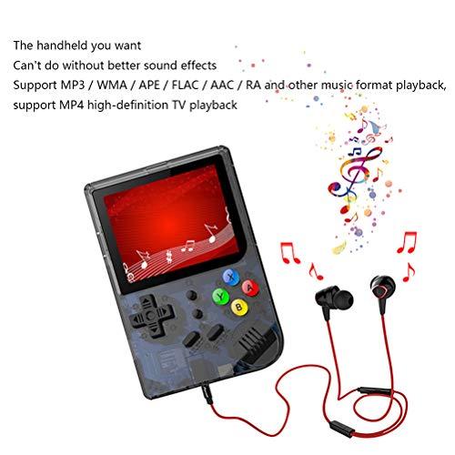 H/L Hand Arcade-spel-console, kleurenbeeld retro tas speelmachine met 12 functies zoals muziekfilm e-book-vibratie en ingebouwde 169 klassieke games van NES FC GBA