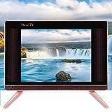 ASHATA Mini HD TV, TV LCD de Alta definición de 17 Pulgadas Mini televisor portátil Sonido de Graves, Mini televisor LCD Smart TV a Prueba de Polvo y arañazos 110-240V(EU)