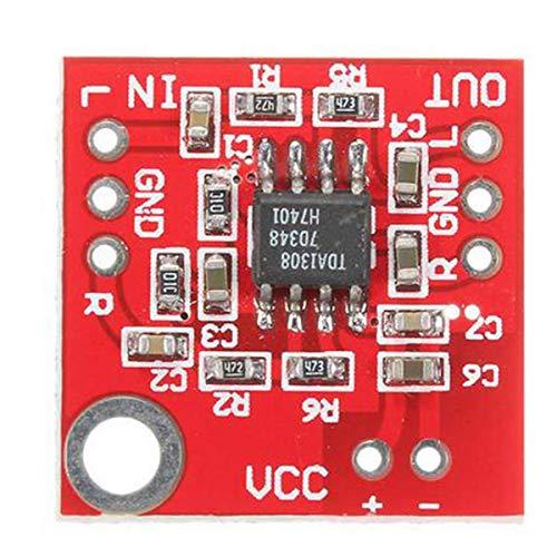 Gugutogo 3v-6v Tda1308 Placa de Amplificador de Auriculares Módulo de preamplificador de Amplificador AB
