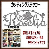 ロゼリア ROSELIA カッティングステッカー (銀, 横12x縦5cm 1枚)