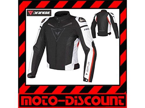 Dainese 1735143_858_48 Chaqueta Moto, Negro/Blanco/Rojo
