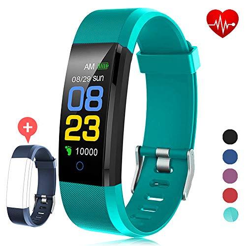 Aktivitäts-Tracker mit Herzfrequenz-Messgerät Smart Wristband, IP67 Wasserdicht mit Kalorienzähler