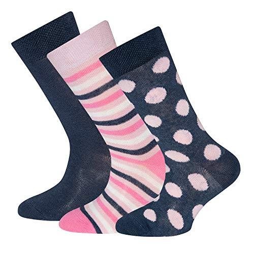 Ewers 3er Pack Kindersocken Mädchen, MADE IN EUROPE, Socken Baumwollsocken Mädchensocken Baumwolle