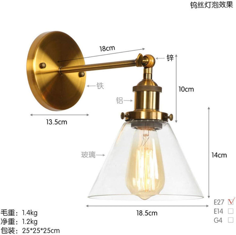 Wandleuchte aus schmiedeeisernen Glaslampen aus Goldbronze, 2