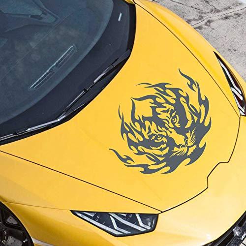 JINTORA Adesivi - Adesivo per paraurti Tiger Tribal 60cm x 52cm Antracite - Automobile di Finestra Posteriore di Messa a Punto Stile Auto