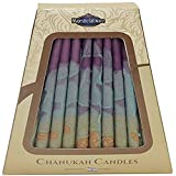 Majestic Giftware 45-Pack Safed Handcrafted Hanukkah Candles, 6 Inch, Purple/Green (CP22)