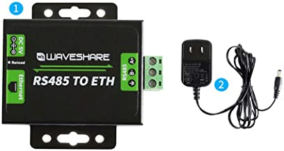 waveshare RS485 to Ethernet Converter High-Speed Low-Power High-Stability Upgradable Supports Customized Heartbeat/Registration Packets,Customized Webpage,RFC2217-like Protocol,Time-Out Reboot