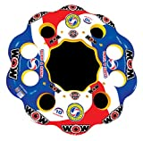 WOW World of Watersports Tube A Rama Floating Island 1 2 3 4 5 6 7 8 9 or 10 Person Inflatable Floating Island, 13-2060