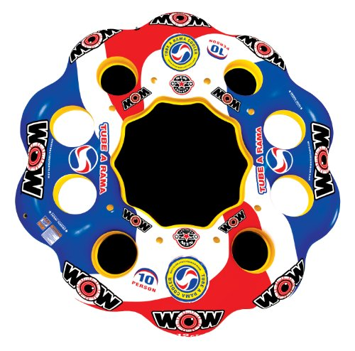 WOW World of Watersports, 13-2060 Tube A Rama, 10 Person Inflatable Floating Island, 12 Foot Diameter
