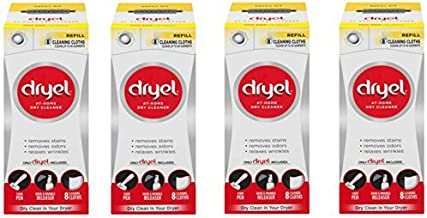 Dryel At-Home Dry Cleaner Refill Kit, 8 Count - 4 Pack