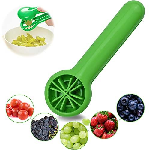 HLDIFENGGS Cortador de uvas, tomates, fruta, uvas, tomates, cerezas y fresas, utensilio de cocina, herramienta de cocina para niños
