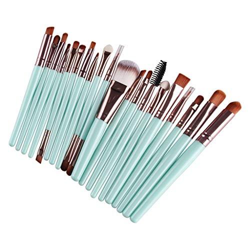 MERIGLARE 20Pack Professional Soft Makeup Brush Set Brushes Cosmétiques Pour Le Maquillage De Beauté - Café vert