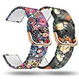 smaate Replacement Band for ID205L Veryfitpro Smart Watch and ID205 ID205G ID205U ID205S ID215G, Silicon Watch Strap Women 205SM5FJ (Flower-Jelly)