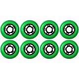 KSS Outdoor Asphalt Formula 89A Inline Skate X8 Wheels, Green, 80mm
