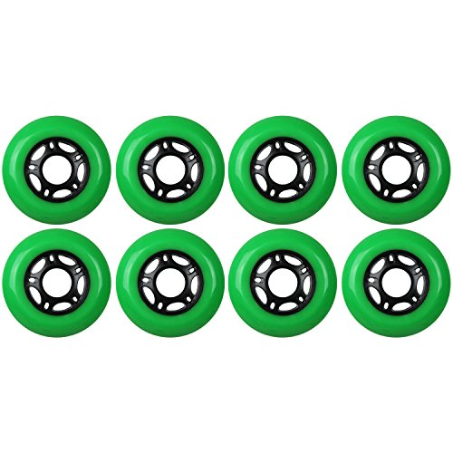 KSS Outdoor Asphalt Formula 89A Inline Skate X8 Wheels, Green, 76mm