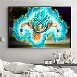 KWzEQ Cartel de Pintura de Pared de Lienzo Anime Boy Wall Art Poster Imagen Dormitorio decoración del hogar,Pintura sin Marco,50X75cm