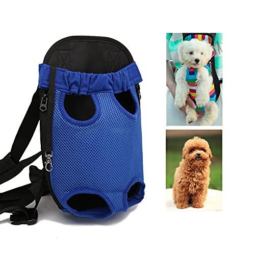 XUJIE Mochila para Perros Mochila para Perros de Viaje al Aire Libre Transpirable, Portador para Perros con Patas Delanteras, para Perros pequeños, Cachorros, Gatos y Animales pequeños