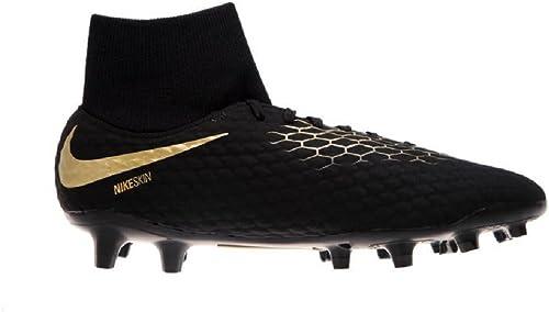 Nike , Chaussures de Foot pour Garçon Noir Noir