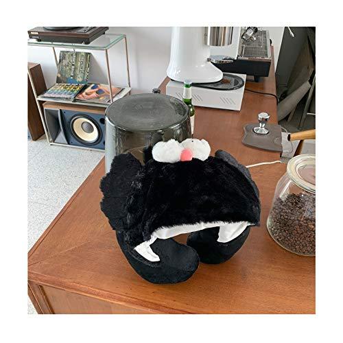 NYKK Almohadas de Viaje Espuma de la Memoria U Almohada Linda con Capucha en Forma de U Almohada Oficina Siesta Cuello Almohada Cervical Almohada Avión Viaje portátil Almohada de Cuello (Color : A)