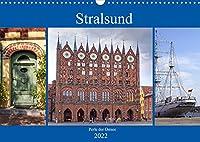 Stralsund - Perle der Ostsee (Wandkalender 2022 DIN A3 quer): Stralsund - Hansestadt mit Flair (Monatskalender, 14 Seiten )
