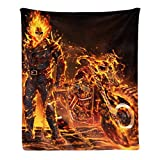 Coolest Ghost Rider Halloween Skull Flannel Fleece Throw Blanket for Kids,Boys Girls Baby Toddler Infants Blankets for Bed,Super Soft Warm Lightweight All Season Bed Blanket(30x40 inch)