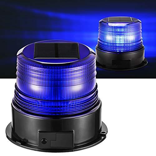 12v Solarlampen Blaulicht Auto Blitzleuchten LED Rundumleuchte Blau Licht für Polizei Auto Pkw LKW