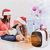 Reasoncool Mini Heizlüfter Energiesparend Timerfunktion Tragbare leise Timing Heizlüfter Schnellheizer Oszillationsfunktion Warm & Natürlich,Thermostat Ideal für Badezimmer, Büro