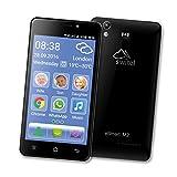 Switel eSmart M2 Smartphone (Dual-SIM, LTE, 3200mAh Akku mit SOS Notruftaste, lauter Klingelton & Hörerlautstärke, Hörgerätekompatibel, 12,7 cm (5 Zoll)) schwarz