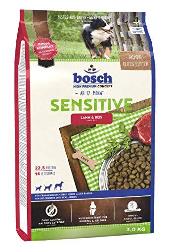 bosch HPC Sensitive Cordero y arroz | Alimento seco para perros nutricionalmente sensibles de todas las razas | 1 x 3 kg
