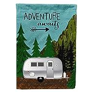 Caroline's Treasures VHA3022GF Airstream Camper Adventure Awaits Flag Garden Size, Small, Multicolor