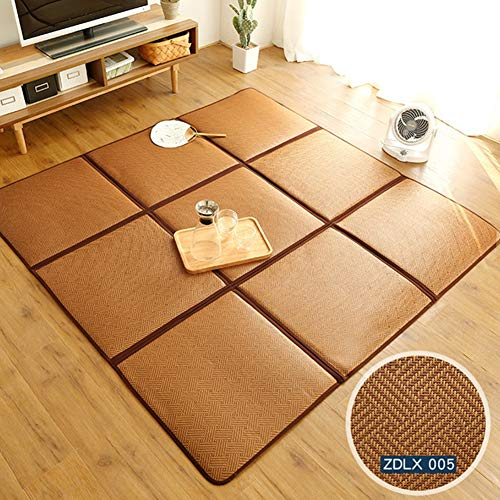 Lowest Price! JTYX CARPETS Summer Kids Game Carpet Straw Mat Folding Mat Cool Breathable Baby Crawli...