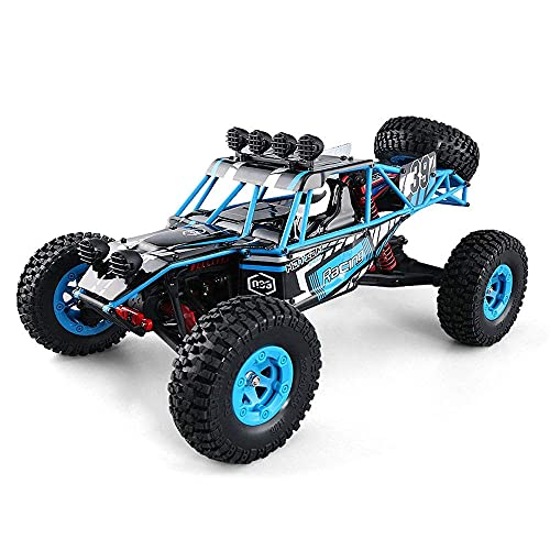 Q39, 1/12 Escala Off-Road Control Remoto Coche 2.4G Alta Velocidad 4WD Escalada RC Vehículo Eléctrico Racing RC Coche Bigfoot Monster RC Camión Juguete Regalos para Niños y Adultos