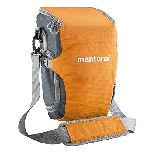 Mantona Elements-Pro Colt Schulterpack, grau/orange