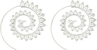 Spiral Alloy Water Drop Shape Party Hoop Earrings Fashion Lady Eardrop Jewelry - SoundsBeauty