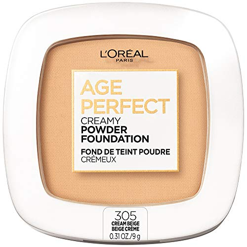 L'Oreal Paris Age Perfect Creamy Powder Foundation Compact, 305 Cream Beige, 0.31 Ounce