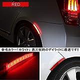 キューブ Z11 LED フェンダーマーカー サイドマーカー マーカーランプ 連動 レッド 2個セット